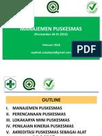 Manajemen Puskesmas Permenkes 44 Th 2016