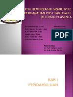 SYOK HEMORRAGIK GRADE IV EC PERDARAHAN POST PARTUM.pptx