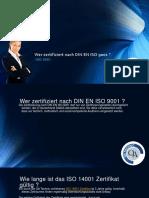 ISO 14001 Zertifikat ist 3 Jahre gültig