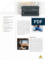 BEHRINGER_HA400 P0386_Product Information Document