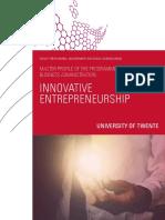 Bamsc Innovative Entrepreneurship