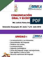 COMUNICACI�N ORAL Y ESCRITA