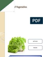 Kinds of Vegetables inggris - indonesia