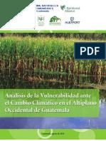 Analisis de Vulnerabilidad Ante El Cambio Climatico en El Al