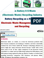 Lithium Battery & E-Waste (Electronic Waste) Recycling Industry