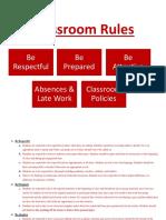classroom rules showcase