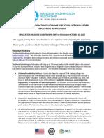 2019 Fellow Application Instructions and FAQ 9.10.18 1