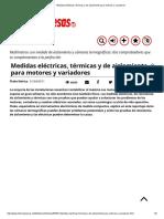 Medidas Eléctricas, Térmicas y de Aislamiento Para Motores y Variadores