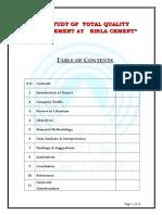 Quality Control in Birla Cement New