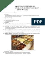 Standard Operating Procedure Pemeriksaan Makanan