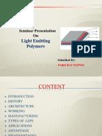 Light Emitting Polymers Ppt