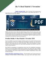 Prediksi Melilla vs Real Madrid 1 November 2018