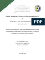 Academic Procrastination (Edited)