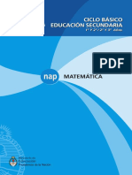 NAP Matemática Secundaria Ciclo Básico