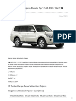 Rental & Sewa Mitsubishi Pajero Harian Murah ☎ 0821 1313 0173 TravelBos.id