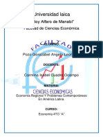 Organización Territorial Del Ecuador, y Como Aporta Cada Zona en La Economía Del País y de La Región.