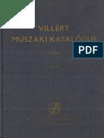 Villért Katalógus 1965 3. kötet