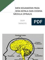 Managemen Stroke, Cedera Kepala Dan Cedera Medula