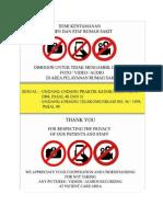 Poster Etika Privasi RS
