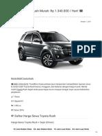 Rental & Sewa Toyota Rush Harian Murah ☎ 0821 1313 0173 TravelBos.id