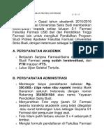 Tata Cara Pendaftaran Profesi Apoteker Angkatan Xxxi