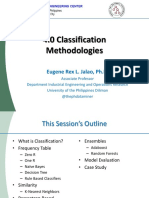 4.0 Classification Methodologies R