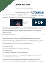 Nestle Organizational Behavior Project Report - Bohat ALA