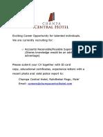 Job Advertisement 102518