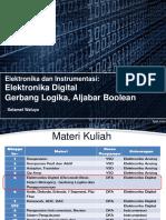 6. Elektronika Digital Gerbang Logika Aljabar Boolean