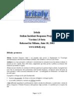 Forensic - Incident Response Analisys - Computer Forensics Forensic Italian Italiano.pdf