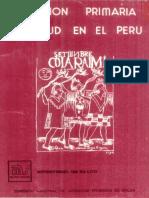 Atención Primaria de Salud en El Perú Minsa 1981