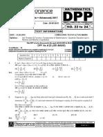 XI Maths DPP (09) - Set_Relations _ Functions + Basic Maths + Quadratic Equation