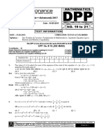 XI Maths DPP (08) - Set_Relations_ Functions + Basic Maths + Quadratic Equation