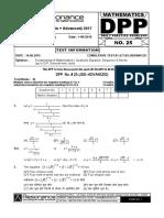 XI Maths DPP (10) - Basic Maths + Quadratic Equation + Sequence_Series.pdf