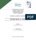 Silabo Nivel III 2018
