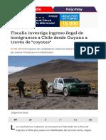 Fiscalia Investiga Ingreso Ilegal de Inmigrantes a Chile Desde Guyana a Traves de Coyotes.aspx