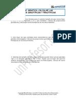 Ejercicio Calcular Las Proporciones Genotipicas y Fenotipicas 455