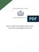 Reglamento Específico Del Sistema de Presupuesto