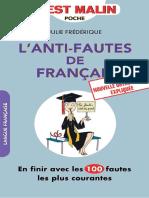 L Anti Fautes de Francais
