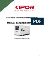 Gener. Inverter , Diesel , Instruccion