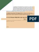 Culturas Antiguas Del Peru - Monografico Sharolyn