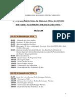 Programa Da CNEFD-2018