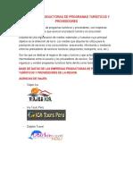 Empresas Productoras de Programas Turísticos y Proveedores