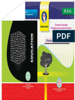 Telangana SCERT B.ed English Subject Textbook