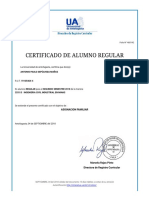 Certificado Alumno Regular UA