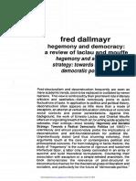 Dallmayr Hegemony and Democracy 1987