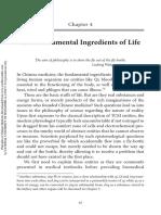 Fundamental ingredient to life