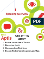 10 Aptis Speaking Overview