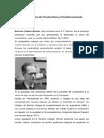 B.F. Skinner Teoría Del Conductismo y Condicionamiento