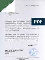 DRC Report Comments Rwanda